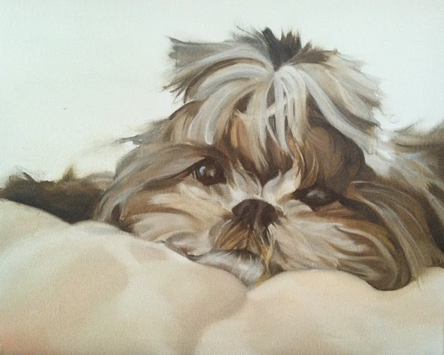 Painting of Bella Luna by Cindy Austin.