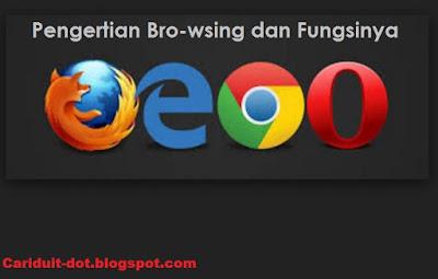 Pengertian Browsing [ Kegunaan ] dan Jenis Browser nya