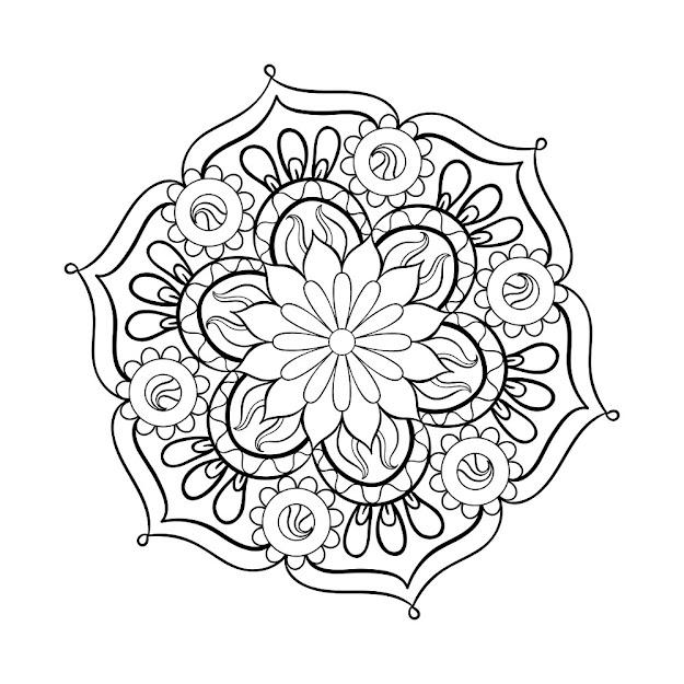Mandala Adult Coloring Page  Thumbnail Mandala Adult Coloring Pages