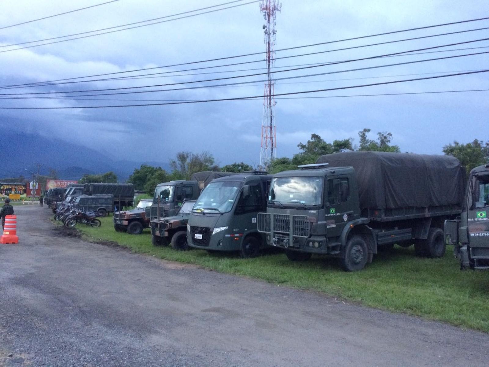 Operação do Exército para combater criminalidade tem base na Dutra, no Sul do Rio