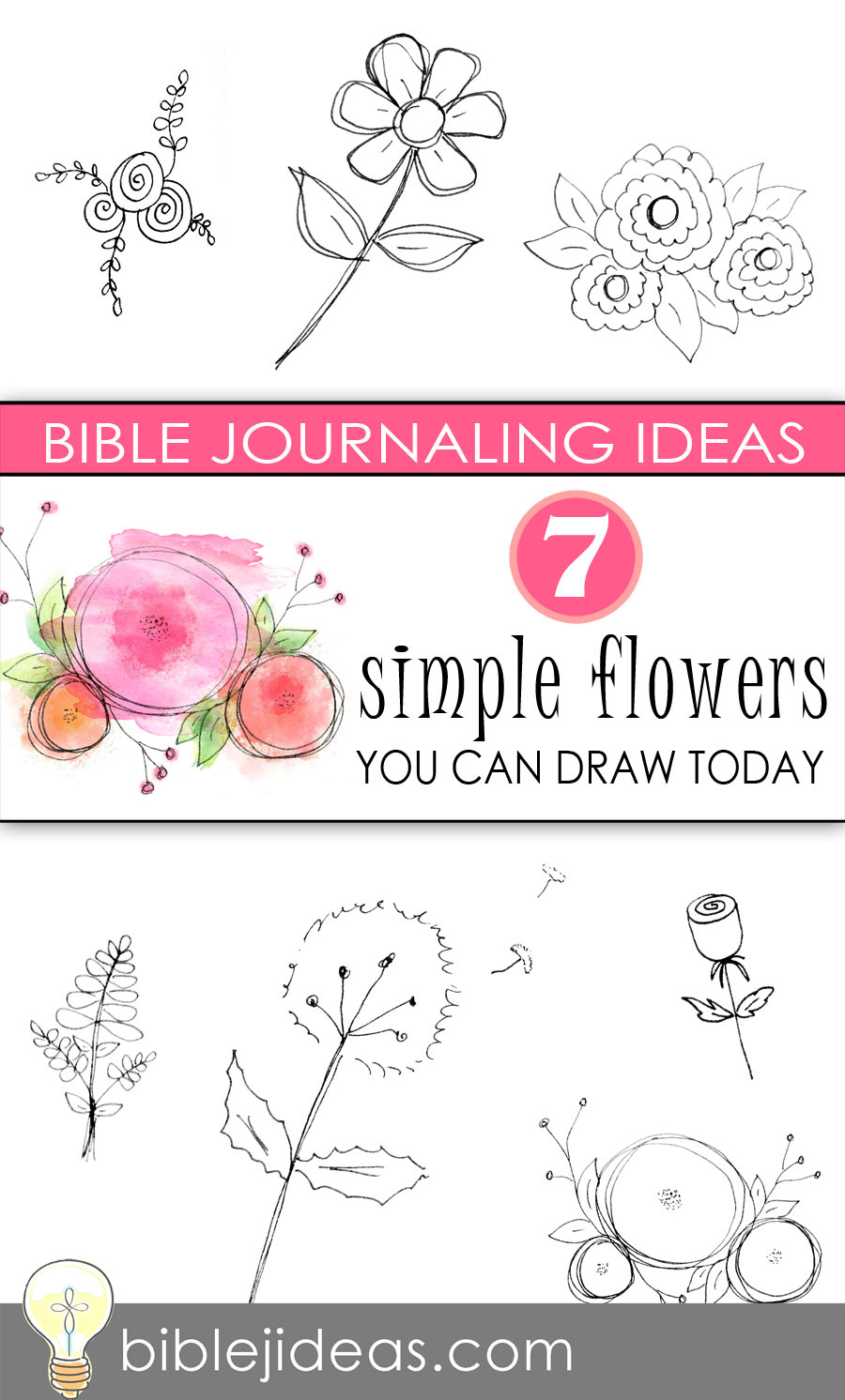 Bible Journaling Ideas 7 Simple Flowers You Can Draw Today
