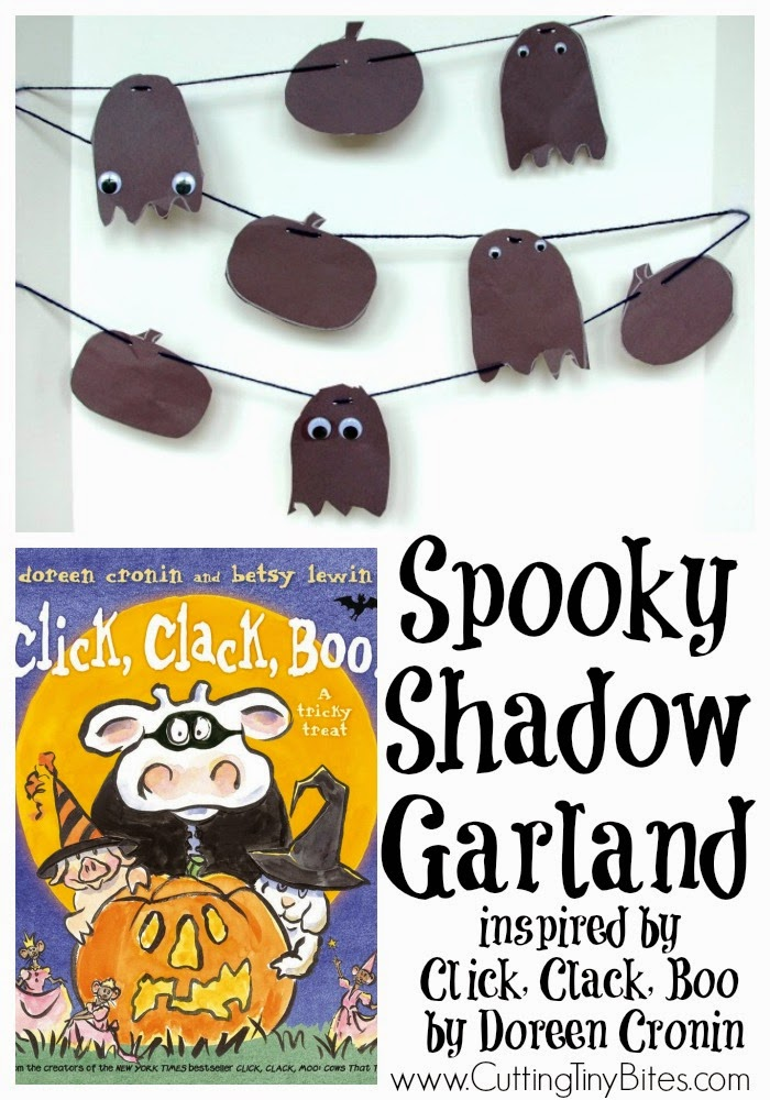 Halloween Shadow Garland - Fun Halloween craft for preschoolers to use with the Doreen Cronin and Betsy Lewin book Click Clack Boo.