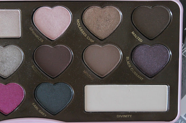 too faced, eyeshadow, palette, review, bonbons, chocolate, makeup
