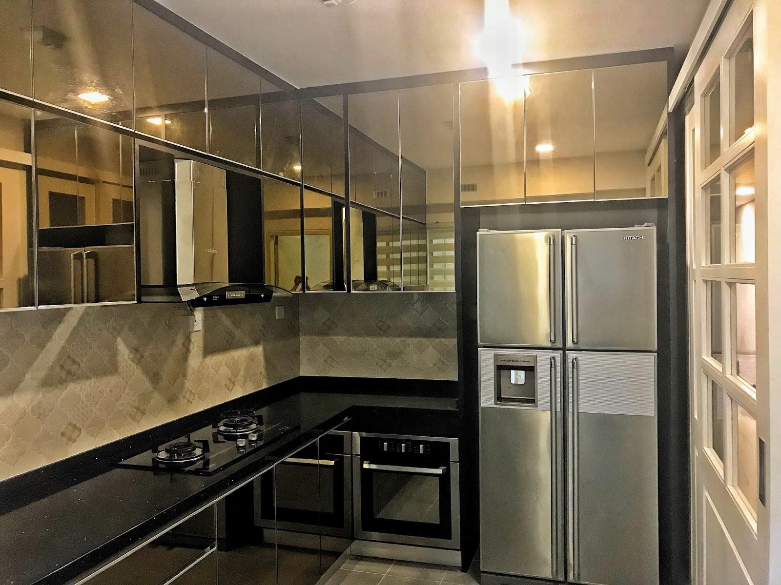 Kitchen Cabinet Yang Dah Siap Sepenuhnya
