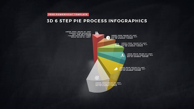 3D Pie Chart Design Elements for PowerPoint Templates Slide 10