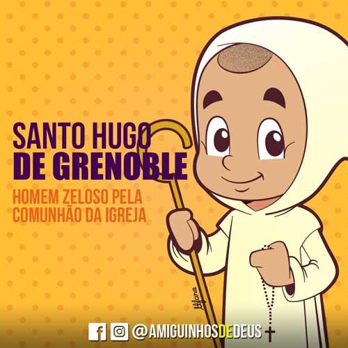 Santo Hugo de Grenoble desenho