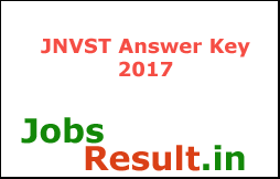 JNVST Answer Key 2017