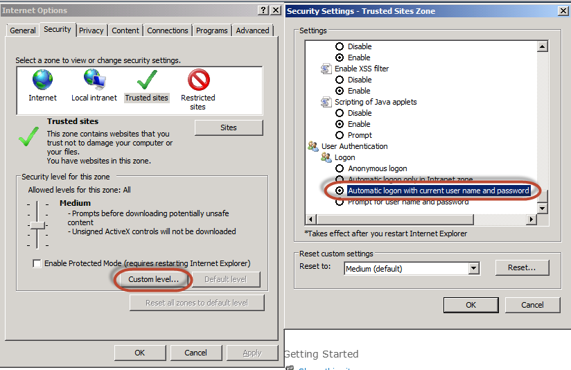Bypass Login Page For Internal Users | ExCM Doc
