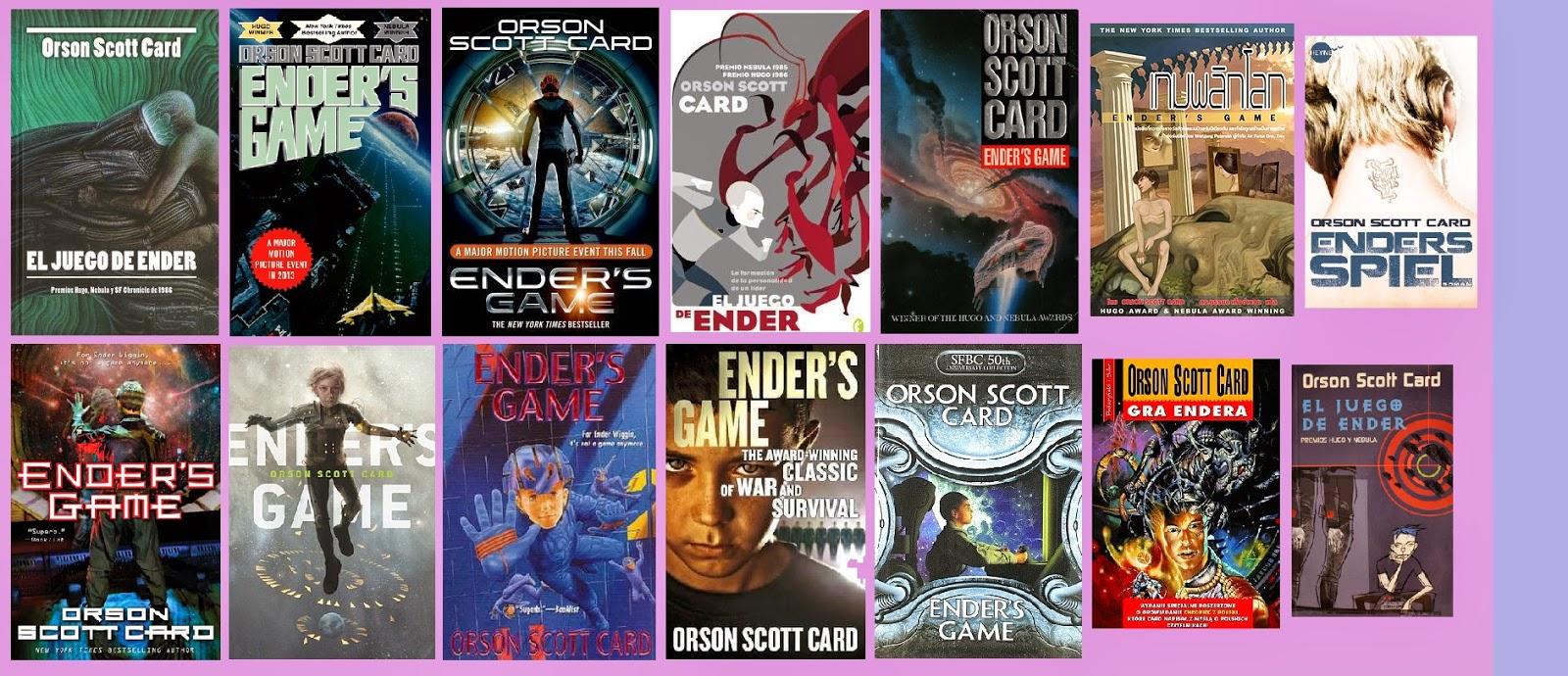 portadas de la novela de ciencia ficción El juego de Ender, de Orson Scott Card