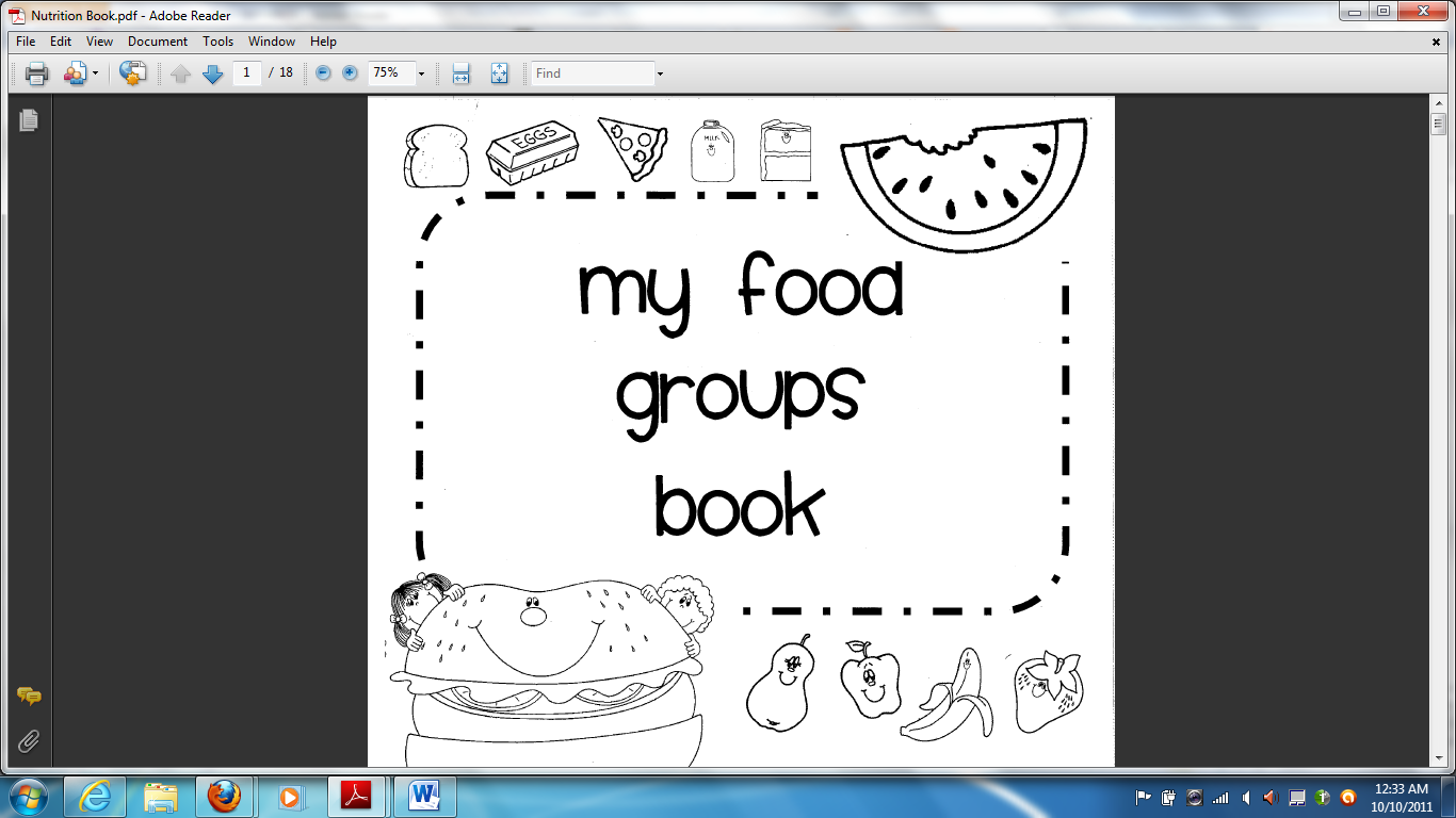 Homeschooling Healthy Free Printable Nutrition Book