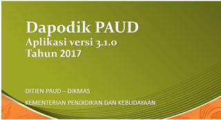 Download Dapodik Paud 2018 Resmi Versi 3.1.0