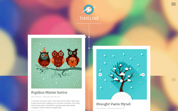 TimeLine Free Blogger Template