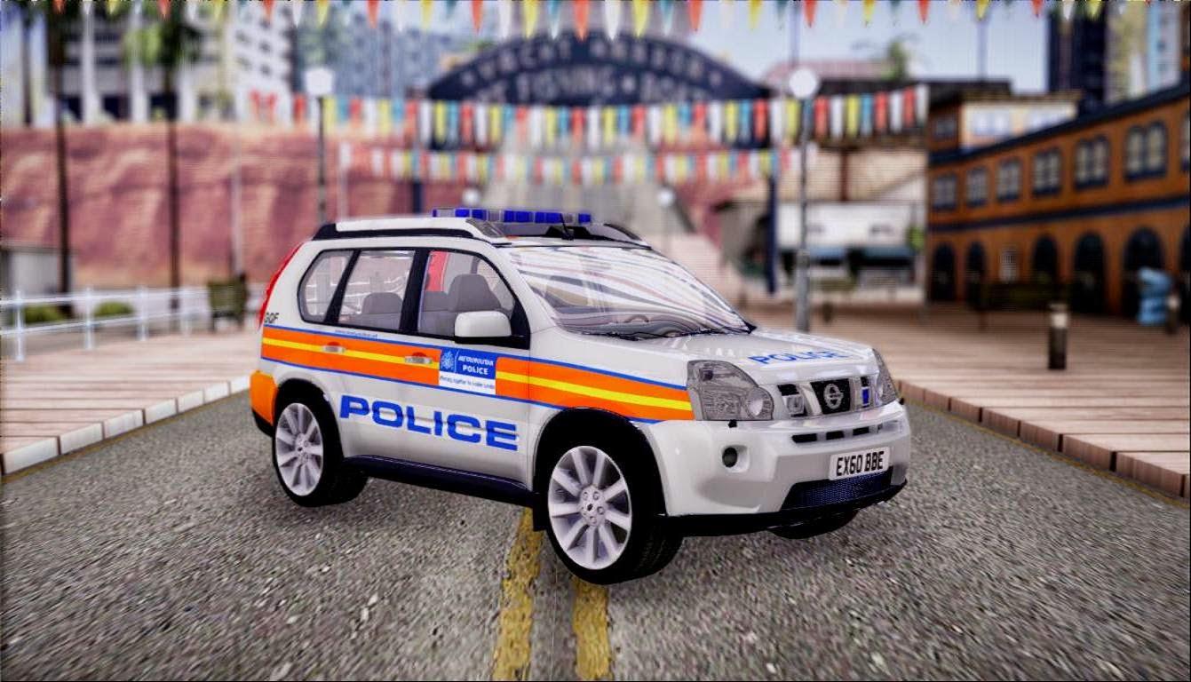 popo spot 2009 nissan x trail london police car. Black Bedroom Furniture Sets. Home Design Ideas