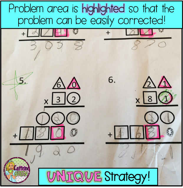 Highlight steps that students struggle with - great for visual learners!