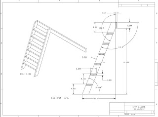 Gerald's Playhouse Project: Playhouse Ladder Drawing