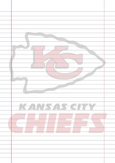 Papel Pautado Kansas City Chief PDF para imprimir na folha A4