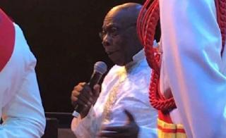 Former Nigerian President, Olusegun Obasanjo, Dazzles in a C&S Church Regalia (Photos)