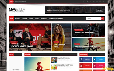 Mag Zilla Blogger Template