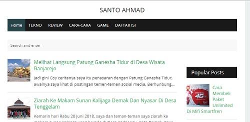 Santoz Ahmad Pindah Domain Santo Ahmad