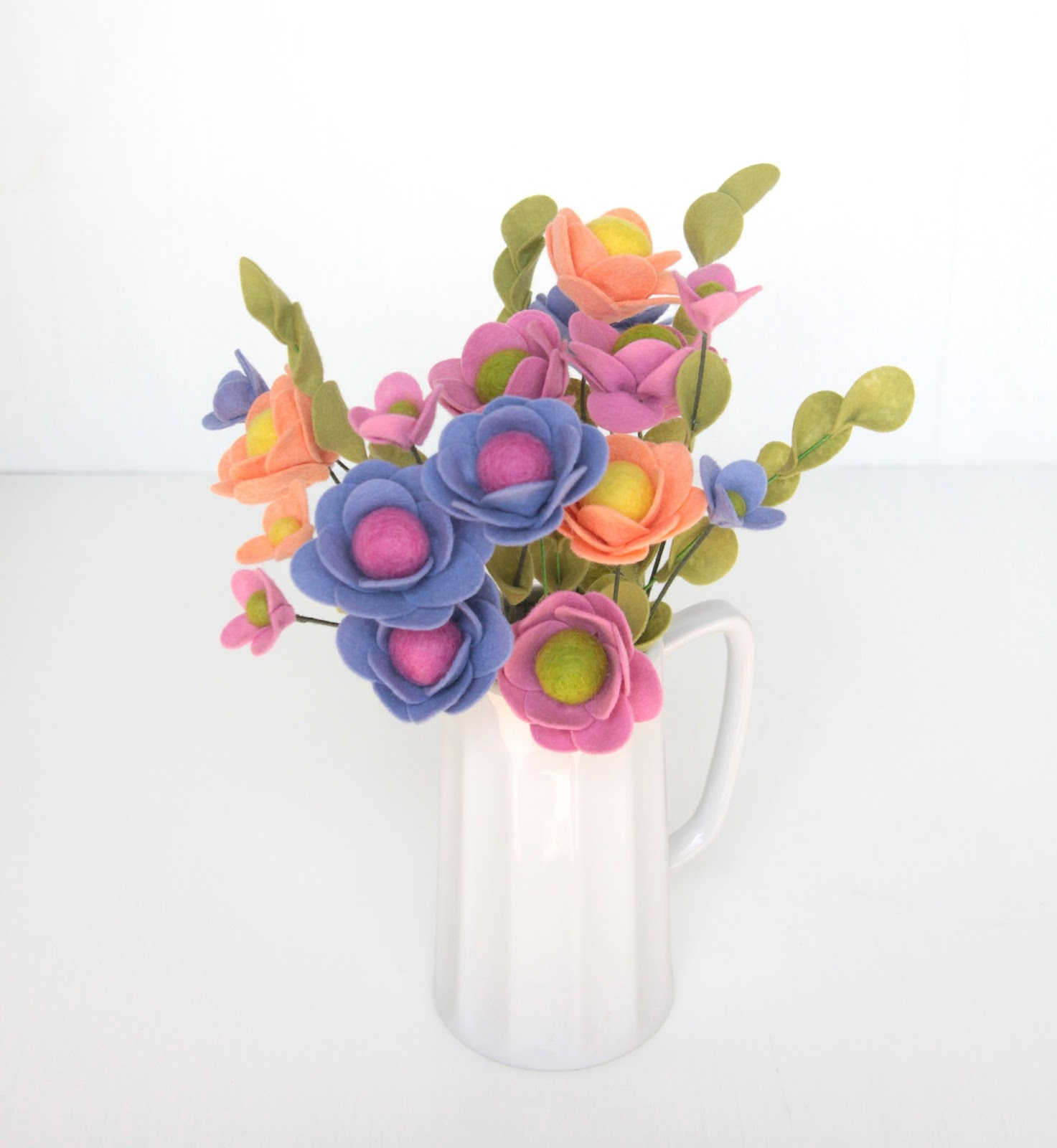 DIY Felt flower bouquet