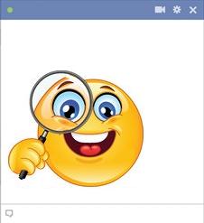 Symbole de Nouveaux Smiley Facebook : émoticône Inspection