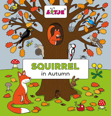 "Squirrel in Autumn is a fun ""can you find it?"" game that will build language skills and color recognition. Great for toddlers and preschoolers!!"