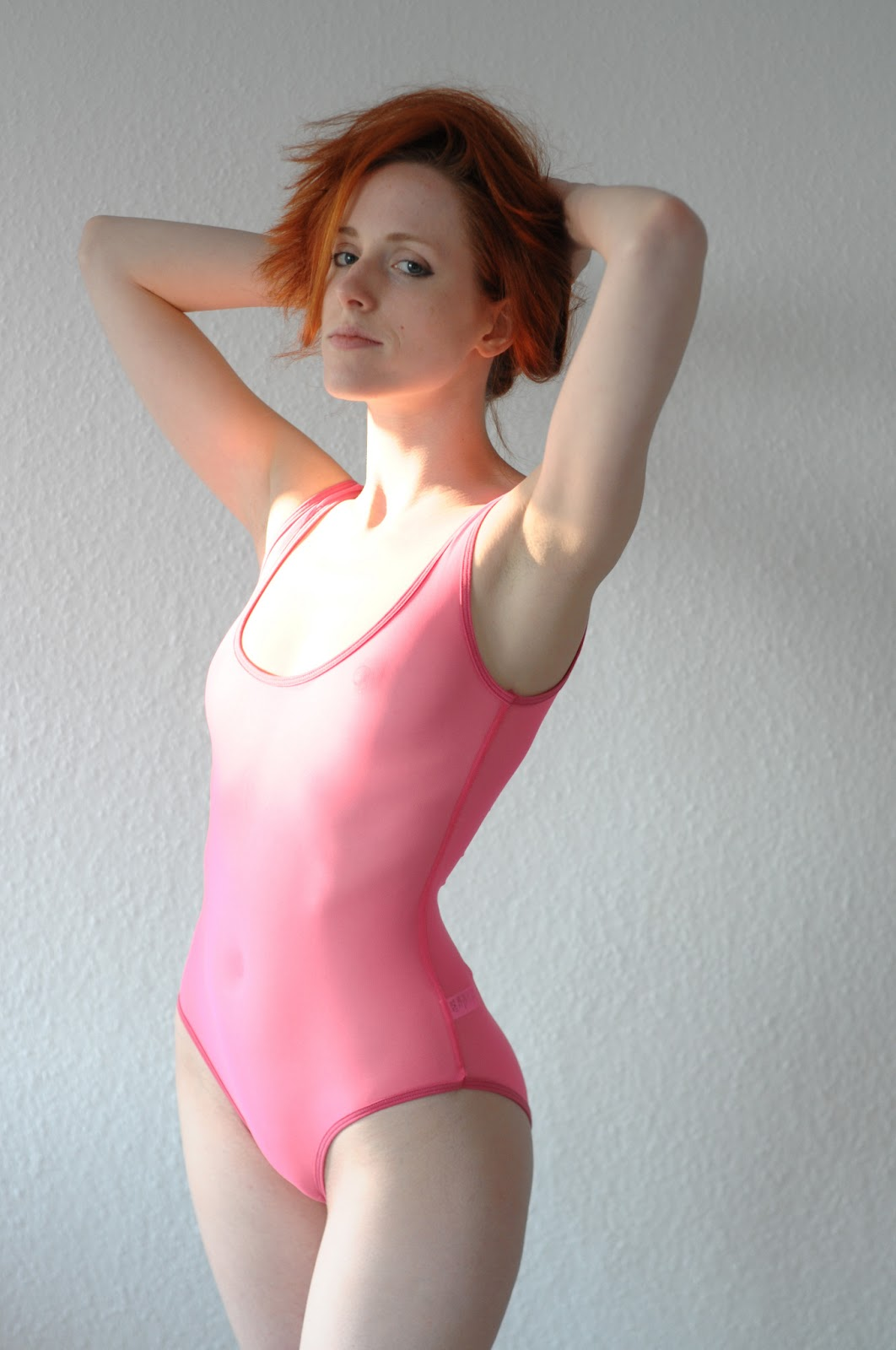 Micro-Mesh Bodysuit - fluorescent pink 1b04ace2a