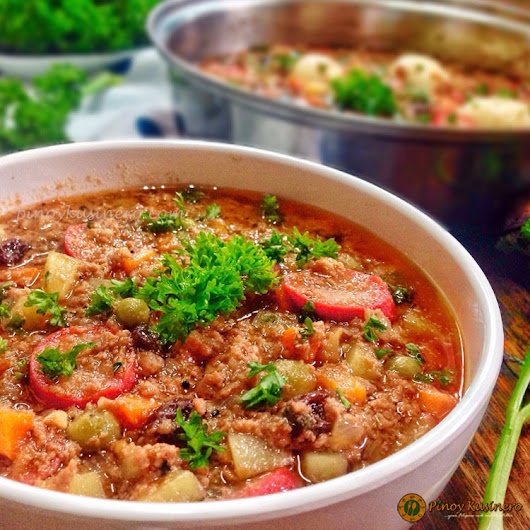 Pork Giniling Menudo (Minced Pork and Tomato Sauce Stew) | Pinoy Kusinero