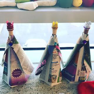 Manualidad para Navidad : Los reyes magos reciclados