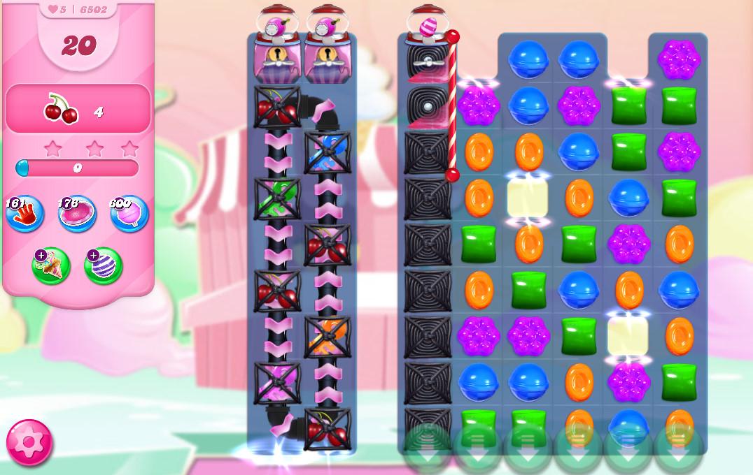 Candy Crush Saga level 6502
