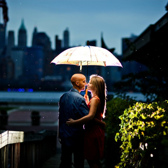 Raining Engagement Photo by meerbabykat