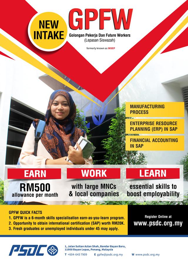 Free Training/Government Funded Programme: Golongan Pekerja