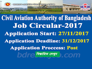 Civil Aviation Authority of Bangladesh Recruitment Circular 2017