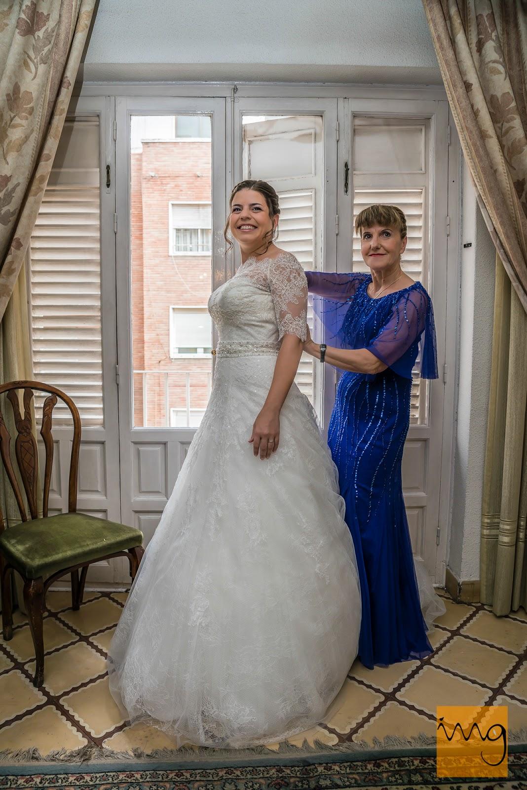 Fotografía de boda con la novia