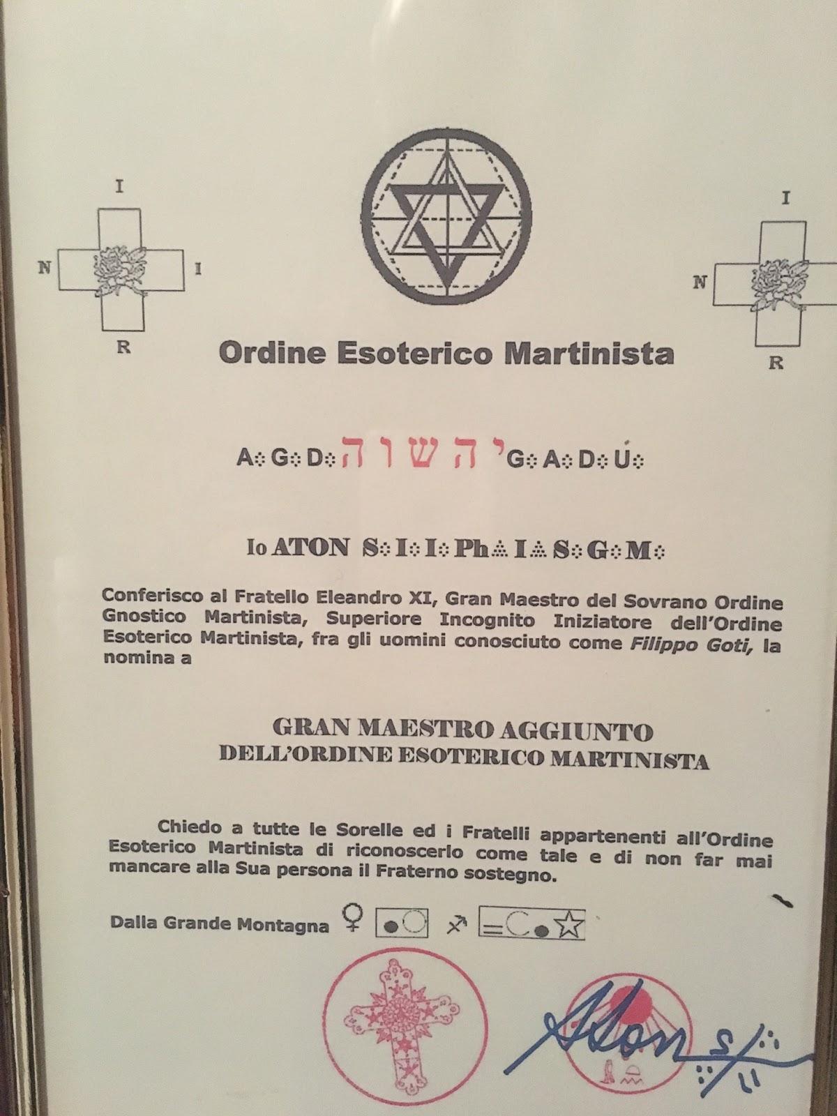 Martinismo - Tavole massoniche per maestri ...