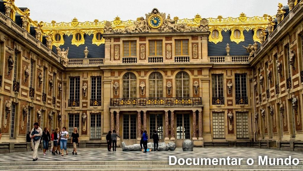 Pátio de Mármore; Palácio de Versalhes; Château de Versailles;