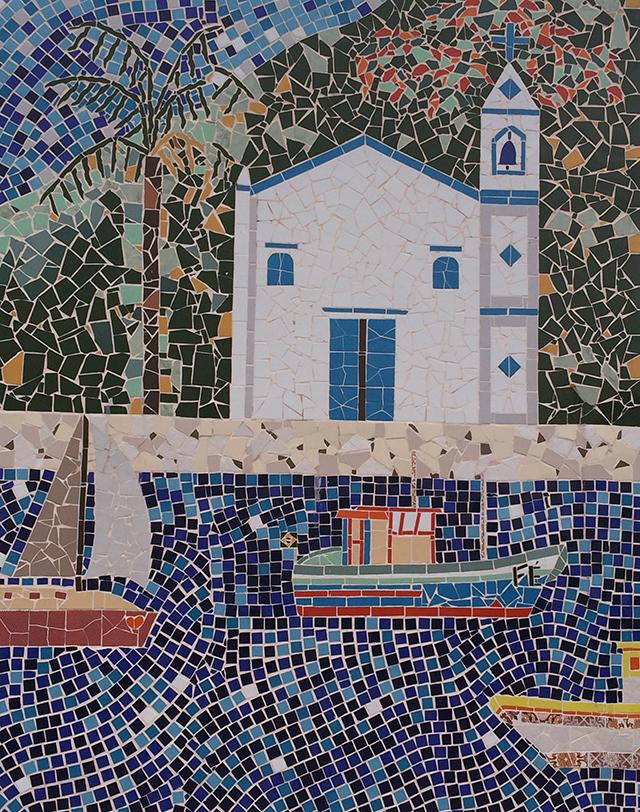 Mosaico do Pier de Ilhabela