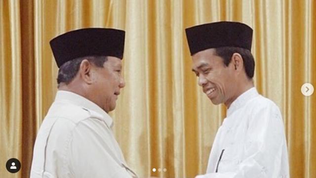 Wow! UAS Gelar Pertemuan dengan Prabowo, Cebong Auto Kejang-kejang!