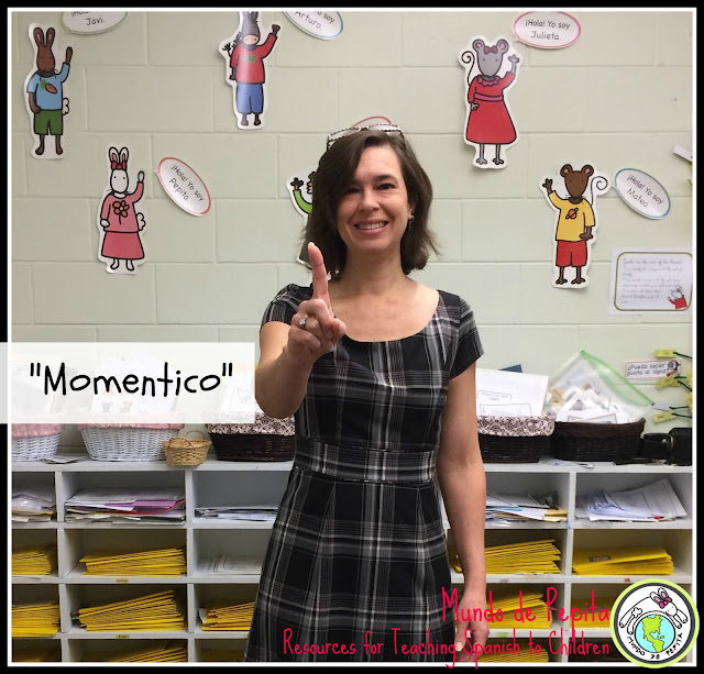 hand signals for classroom management in elementary Spanish class