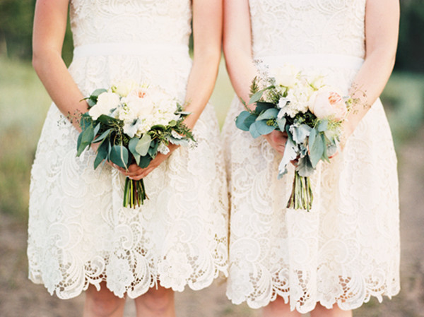 Lace Vintage and Rustic Bridesmaid Dresses Ideas - Wedding ...