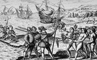 Colón y los indígenas