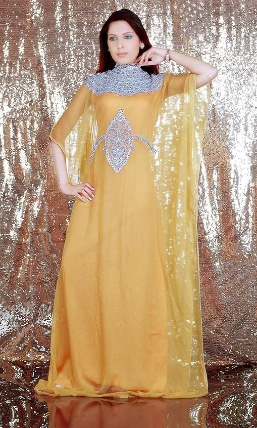 Fancy Kaftan Dresses Jalabiya Kaftan Designs 2014 New