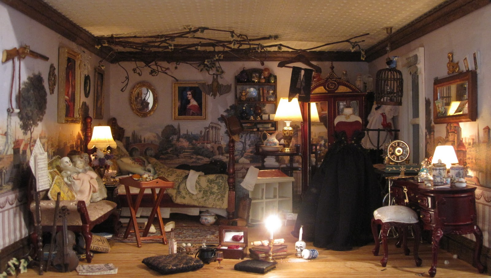 Small Scale Bedroom Furniture Kiva S Miniatures Gayle Palama S Witch S House