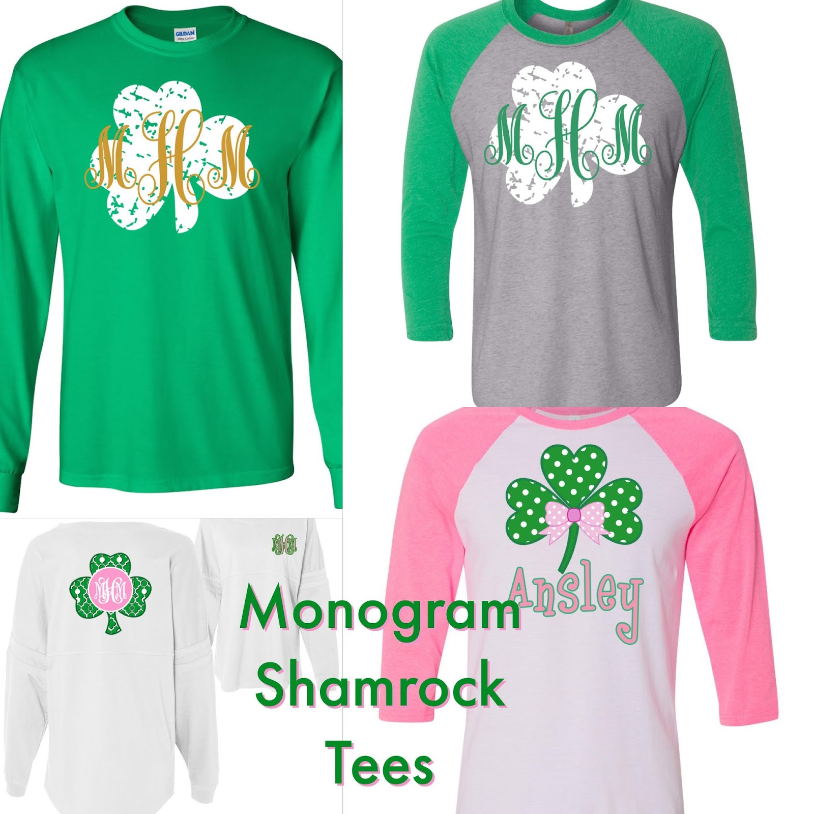 66ba8b14 Personalize Your Shamrocks: Monogram St. Patrick's Day Tees | The ...