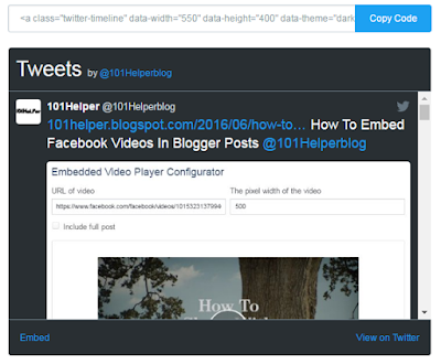 how to install twitter follow widget in blogspot 101helper