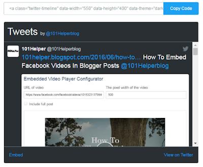 how to install twitter follow widget in blogspot 101helper