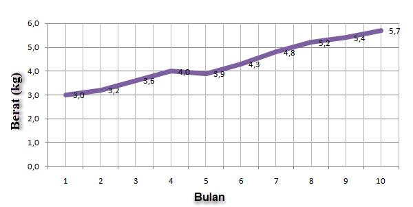 Menyajikan data dalam bentuk diagram garis mikirbae berat badan bayi ccuart Images
