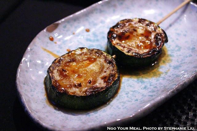 Zucchini Yakitori at TEISUI in New York City