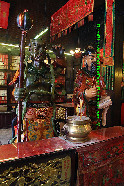 """With the Wind Ears"" and ""Keeper of the Book"", Tin Hau Temple, Yau Ma Tei, Kowloon, Hong Kong"