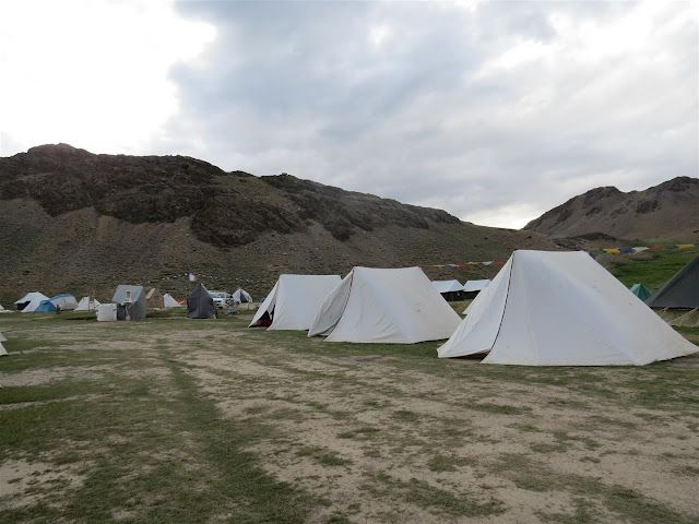 Tents near Chandrataal Lake